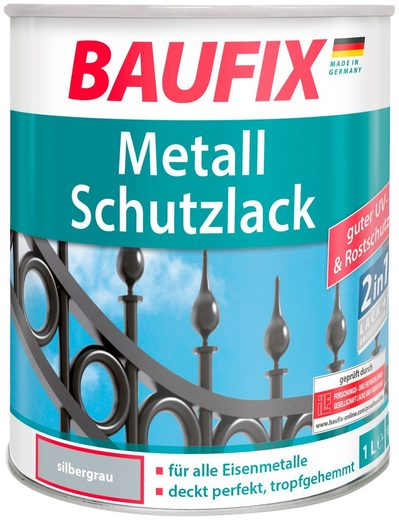 Baufix Metallschutzlack »Silbergrau«, 1 Liter, silberfarben