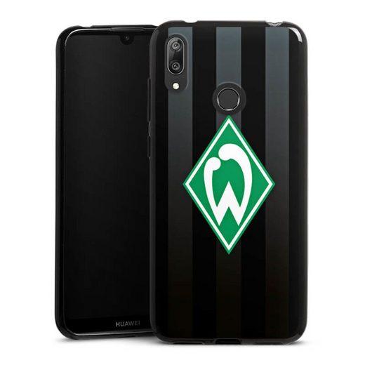 DeinDesign Handyhülle »Werder Bremen schwarz gestreift« Huawei Y7 (2019), Hülle Offizielles Lizenzprodukt SV Werder Bremen Streifen
