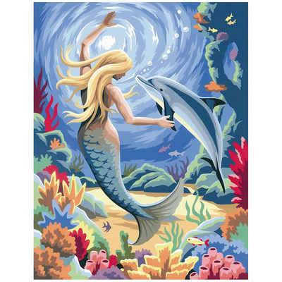 MAMMUT Spiel und Geschenk Malen nach Zahlen »Malen nach Zahlen Junior Meerjungfrau«