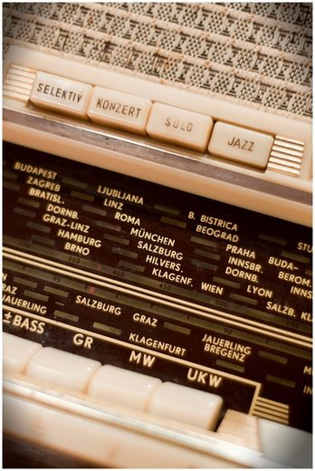 Art & Pleasure Metallbild »Record station«, Musiker