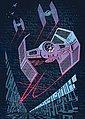 KOMAR Packung: Fototapete »Star Wars Classic Concrete TIE-Fighter«, aus Vlies, Bild 1