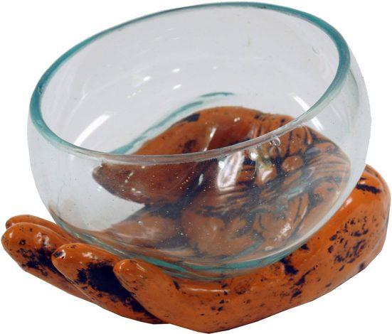 Guru-Shop Windlicht »Teelichtglas aus Mundgeblasenem Glas auf..«