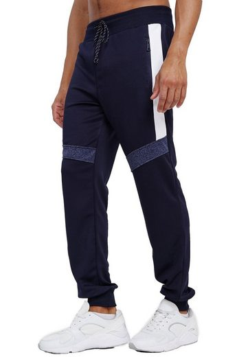 Max Men Jogginghose »3593« Herren Basic Jogger Sport Trainingshose Gummibund Sport Hose Zip Taschen