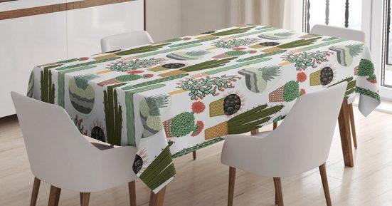 Abakuhaus Tischdecke »Personalisiert Farbfest Waschbar Für den Außen Bereich geeignet Klare Farben«, Kaktus Succulents Blumentöpfe