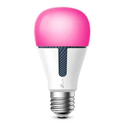 TP-Link »KL130(EU)« Smarte Lampe, Kasa Smarte WLAN Glühbirne Farbwechsel E27 Lampenfassung 10W, WiFi Smart LED Leuchte, Smart-Home, Multicolor, ALEXA, Google App, mehrfarbig