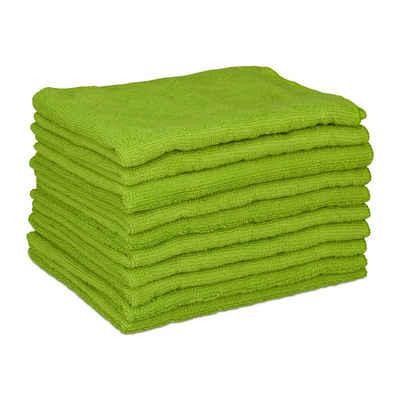 relaxdays Spültuch »10 x Mikrofasertücher 40x30 grün«