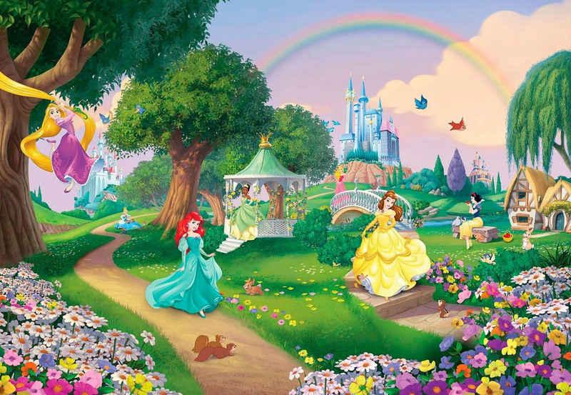 Komar Fototapete »Disney Princess Rainbow«, glatt, bedruckt, Comic, (Set), ausgezeichnet lichtbeständig