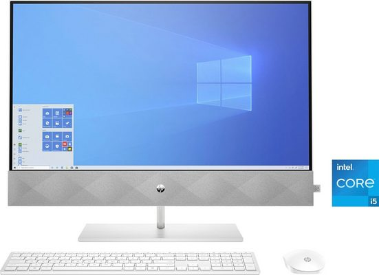 HP Pavilion 27-d1007ng All-in-One PC (27 Zoll Intel Core i5 11500T, GeForce MX 350, 16 GB RAM, 1000 GB HDD, 512 GB SSD, Luftkühlung)