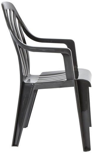 BEST Gartenstuhl »Laredo«  (4er Set)  Kunststoff  stapelbar  grau