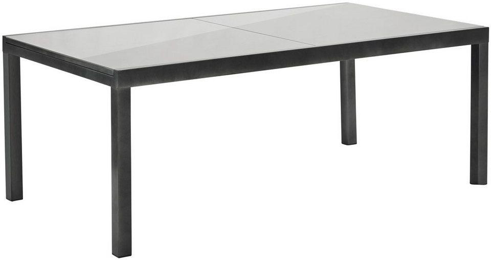 Alu Tisch Garten.Merxx Gartentisch Aluminium Ausziehbar 110x300 Cm Grau Online Kaufen Otto