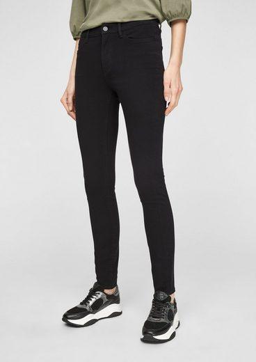 s.Oliver 5-Pocket-Jeans »Skinny Fit: Skinny leg-Jeans« Garment Dye, Leder-Patch