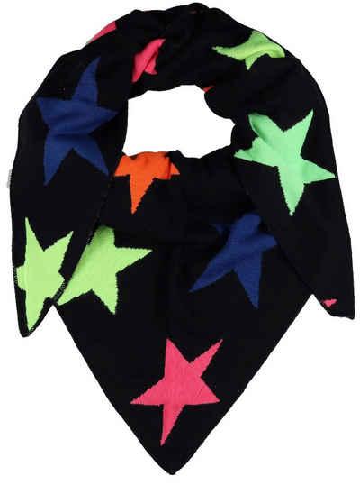 Zwillingsherz Dreieckstuch »Neon Sterne«