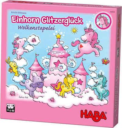 Haba Spiel, »Einhorn Glitzerglück - Wolkenstapelei«, Made in Germany