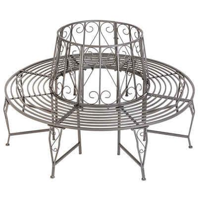 tectake Gartenbank »Baumbank 360° aus Stahl«