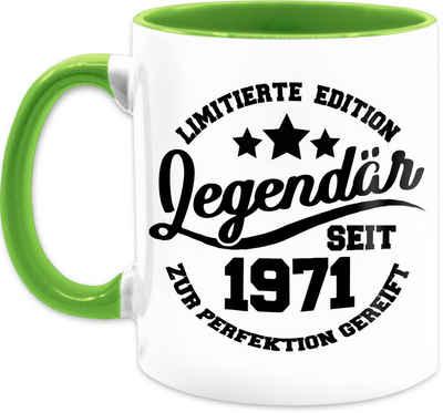 Shirtracer Tasse »Legendär seit 1971 - schwarz - Tasse Geburtstag - Tasse zweifarbig«, Keramik