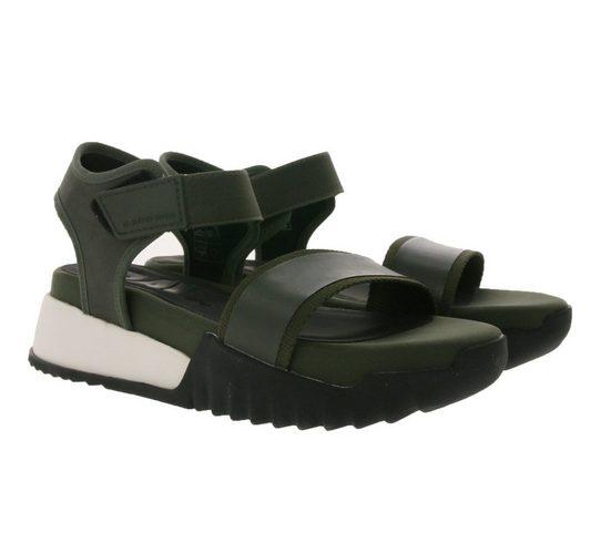 G-Star RAW »G-STAR RAW Plateau-Sandalen auffällige Damen Sandaletten Retro-Style Sommer-Schuhe mit Klettverschluss Olivgrün« Sandale