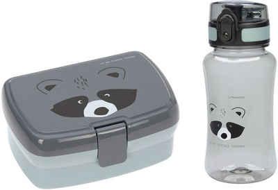 LÄSSIG Lunchbox »About Friends, Racoon«, Polyprophylen (PP), Tritan, (Set, 2-tlg), mit Trinkflasche