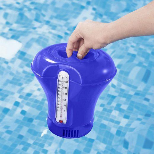 RAMROXX Pool »Pool Dosierschwimmer mit Thermometer 200g Chlordosierer Pool Swimmingpool«