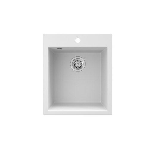 Bergstroem Küchenspüle »Granit Spüle Einbauspüle Spülbecken 425x500mm Weiß«
