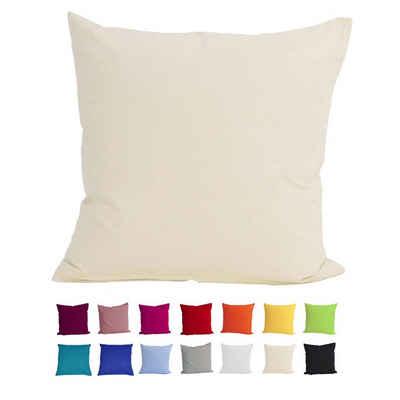Kissenbezug »Basic«, beties, Kissenhülle ca. 40x40 cm 100% Baumwolle in vielen fröhlichen Uni-Farben (natur)