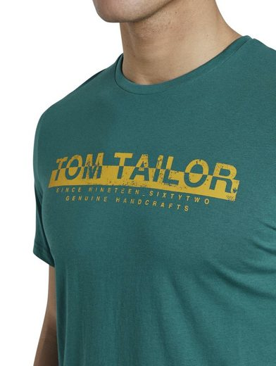 TOM TAILOR T-Shirt »T-Shirt mit Schrift-Print«