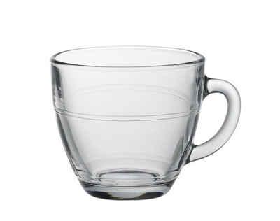 Duralex Teeglas »Gigogne Coupe«, Glas, Kaffeetasse Kaffeebecher 220ml Glas transparent 6 Stück