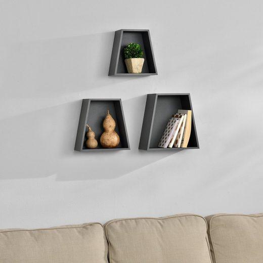 en.casa Wandregal, »Porsgrunn« Design Hängeregal in verschiedenen Farben