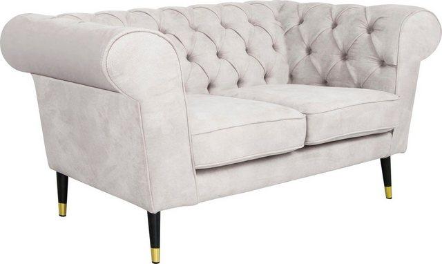 Sofas - Leonique 2 Sitzer »Wales«, mit raffinierter Knopfsteppung, im Chesterfield Stil  - Onlineshop OTTO