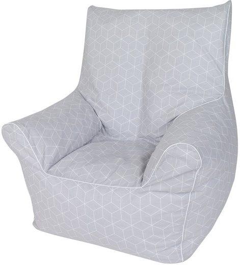 Knorrtoys® Sitzsack »Geo cube  grey«  für Kinder