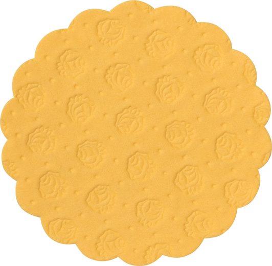 Demmler Tassenuntersetzer 500 gelbe Tassendeckchen, Glasuntersetzer, 9cm, Made in Germany