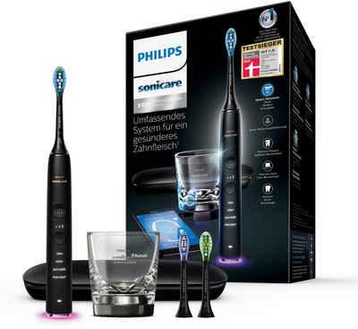 Philips Sonicare Elektrische Zahnbürste DiamondClean Smart HX9903/13, Aufsteckbürsten: 3 St., mit Schalltechnologie, Ladeglass, Reiseetui, Feedback via App