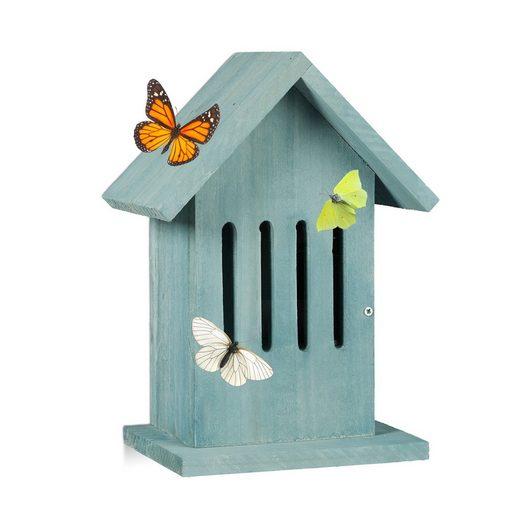 relaxdays Insektenhotel »Schmetterlingshaus hängend in 2 Farben«