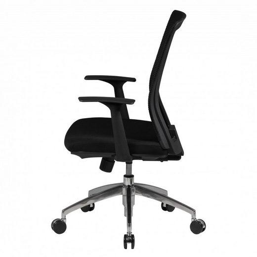 Amstyle Chefsessel »SPM1.285« Bürostuhl BASELINE Stoffbezug Schreibtischstuhl Armlehne schwarz Chefsessel 120kg Drehstuhl Synchronmechanik