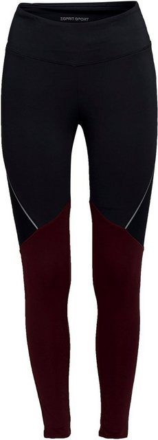Hosen - esprit sports Leggings mit Colour Blocking und Reflektorstreifen ›  - Onlineshop OTTO