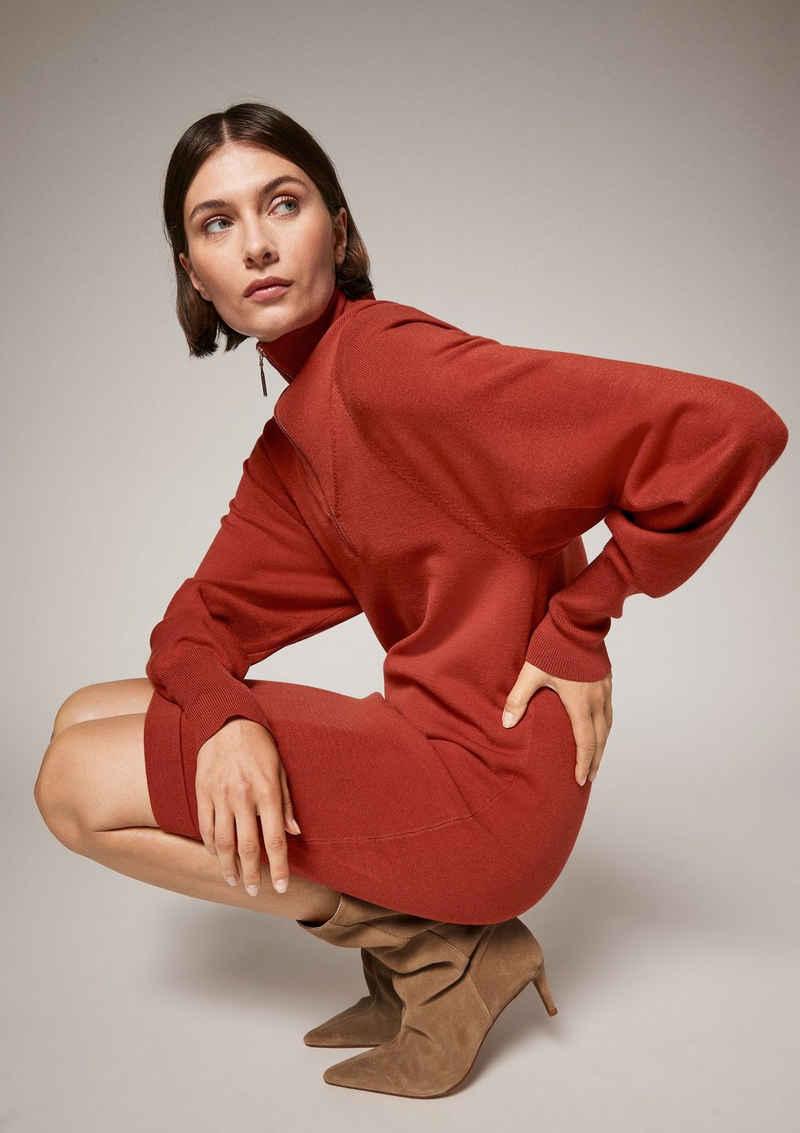 Comma Minikleid »Kleid mit Troyer-Ausschnitt«