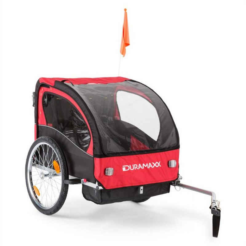 Duramaxx Fahrradkinderanhänger »Trailer Swift Kinderfahrradanhänger Babytrailer 2-Sitzer max. 20 kg«