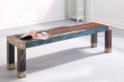 expendio Sitzbank »Punjab«, mehrfarbig 160x45x40 cm aus Massivholz im Used Look