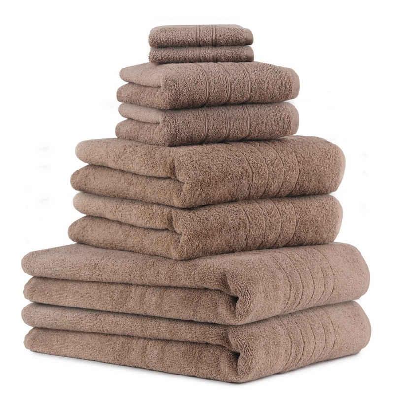 Betz Handtuch Set »8-TLG Handtuch-Set Deluxe 100% Baumwolle 2 Badetücher 2 Duschtücher 2 Handtücher 2 Seiftücher« (8-tlg)