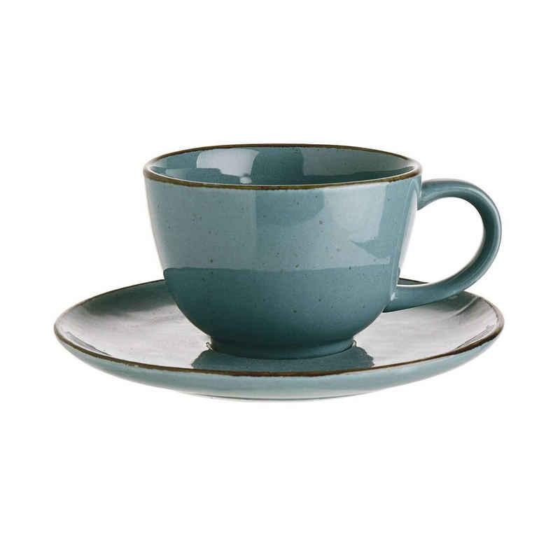 BUTLERS Espressotasse »FINCA Tasse mit Untertasse 210ml«, Porzellan