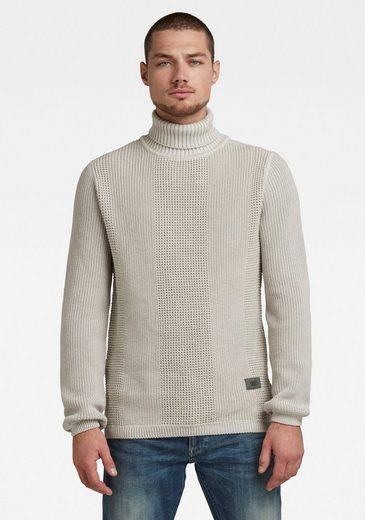 G-Star RAW Rollkragenpullover »Structured turtle knit«