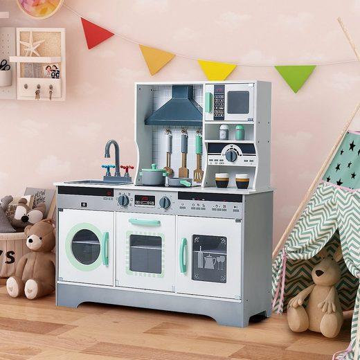 Merax Spielküche Holz, Kinderküche aus Holz inklusive Zubehör