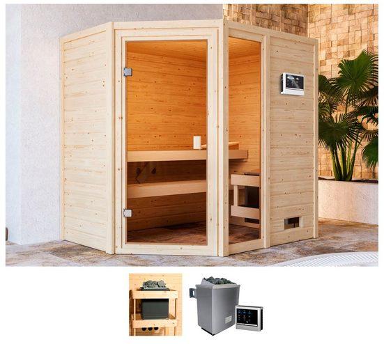 KARIBU Sauna »Josie«, 196x146x187 cm, 9 kW Ofen mit ext. Steuerung