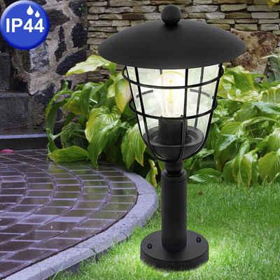 EGLO Sockelleuchten, Außen Steh Lampe Garten Weg Beleuchtung Veranda Käfig Laterne Sockel Leuchte schwarz Eglo 94835