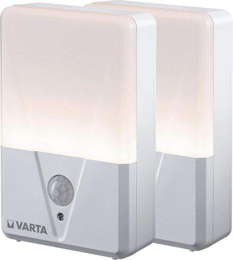 VARTA Taschenlampe »VARTA Motion Sensor Nachtlicht Set ist batteriebetrieben mit Bewegungsfunktion, LED Lichtleistung bis zu 17 Lumen« (Packung, 2-St)