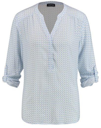 Taifun Langarmbluse »Bluse mit Allover-Print« Blusenshirts