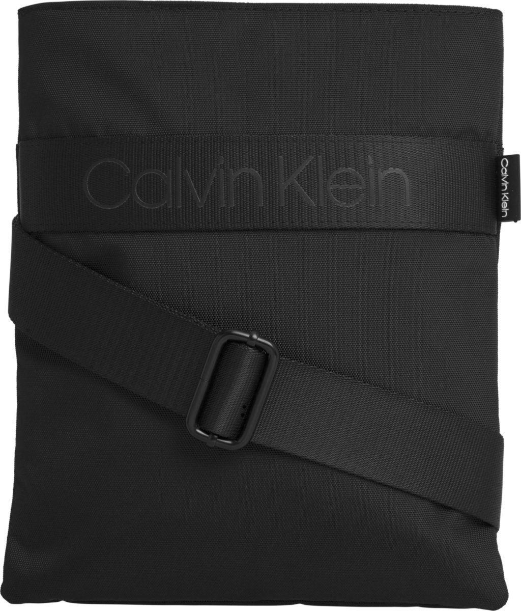 Calvin Klein Umhängetasche »NASTRO LOGO FLAT CROSSOVER«, in schlichter Optik online kaufen | OTTO