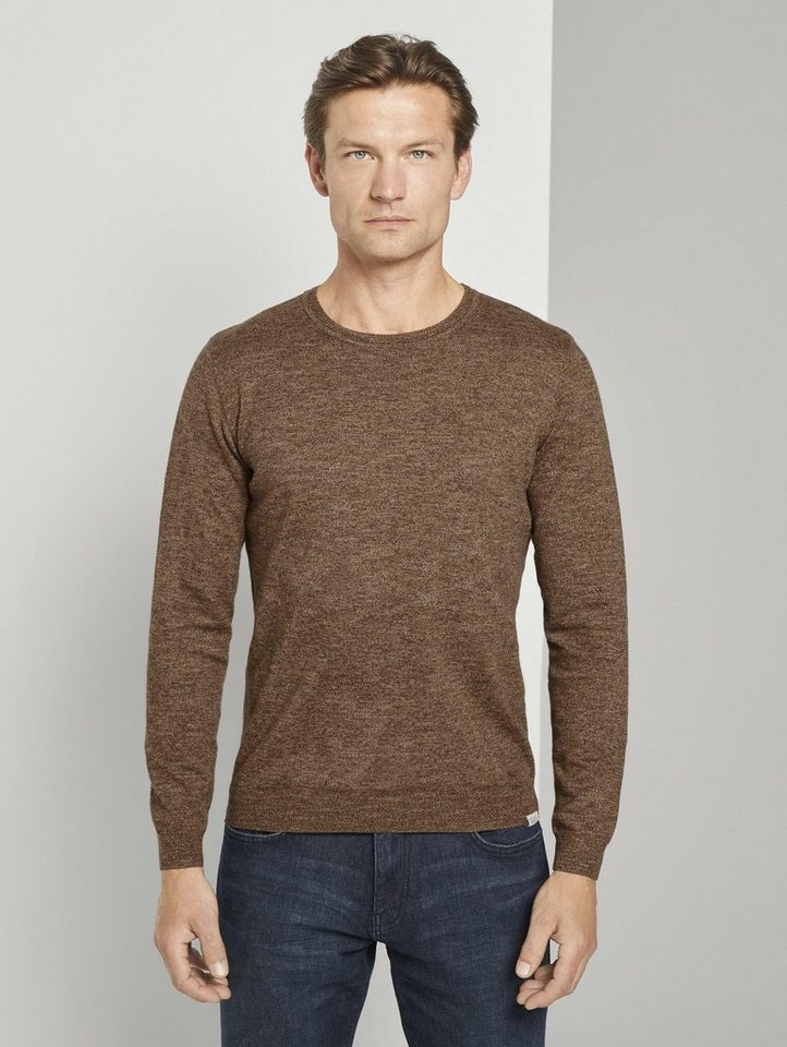 tom tailor -  Strickpullover »Melierter Pullover«
