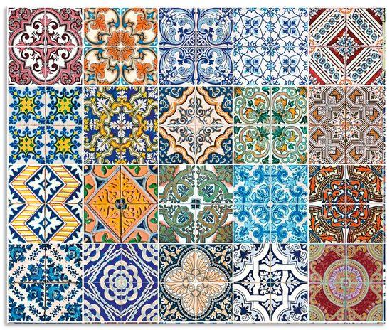 Artland Küchenrückwand »Gemusterte Keramikfliesen«, (1-tlg)