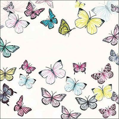 Ambiente Papierserviette »Schmetterlingsausflug«, (20 St), 33 cm x 33 cm