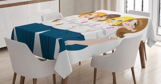Abakuhaus Tischdecke »Personalisiert Farbfest Waschbar Für den Außen Bereich geeignet Klare Farben«, Girl Power 5 Frauen-Freunde, Mädchen